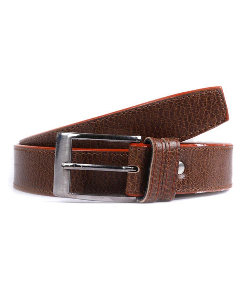 Elligator Brown Leather Belt