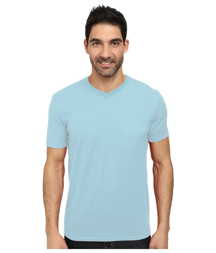 Jonty Clovis Blue Cotton Blend T-Shirt