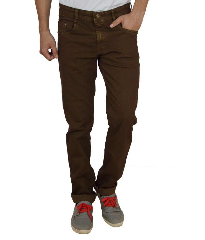 Studio Nexx Brown Regular Fit Jeans