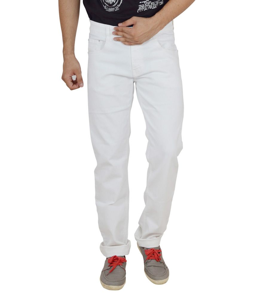 Studio Nexx White Regular Fit Jeans