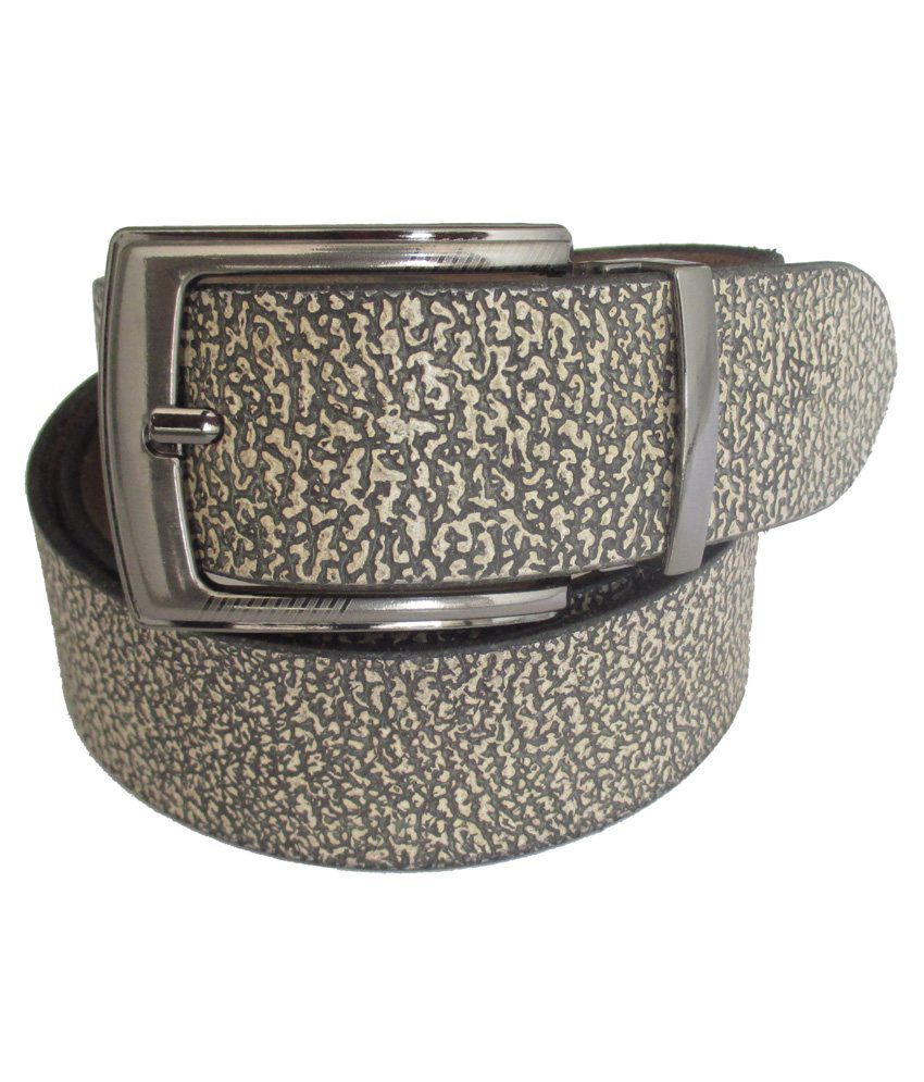 Tsi Grey Leather Casual Belt