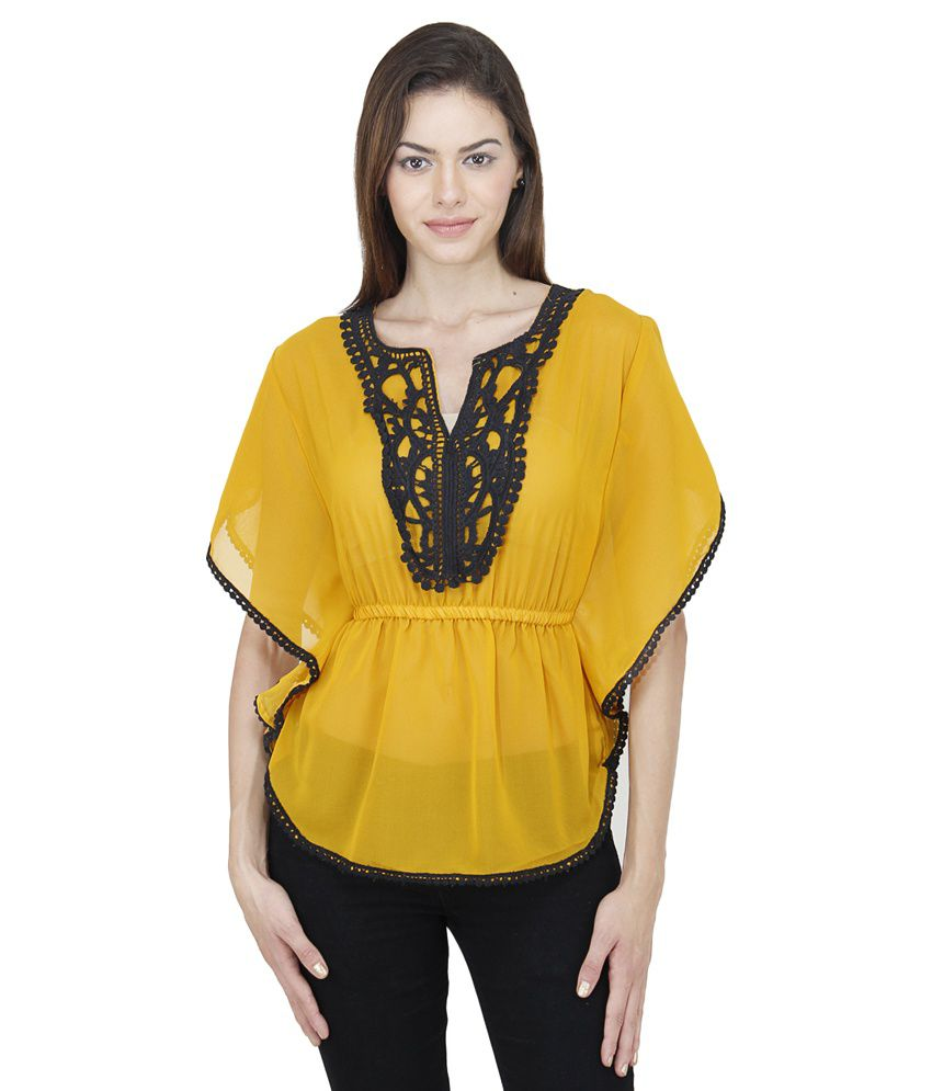 6ac9fa648352d Mayra yellow rayon tops buy mayra yellow rayon tops online at best prices  in india on