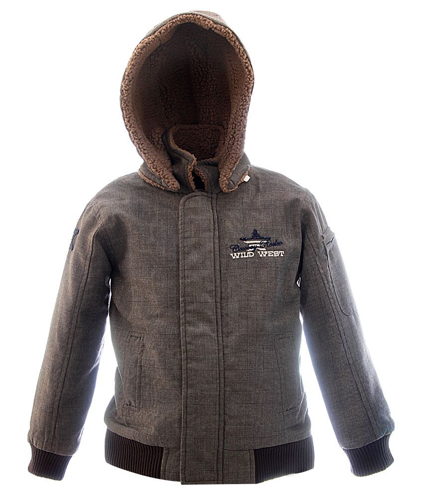 blue giraffe brown casual jacket with hood buy blue