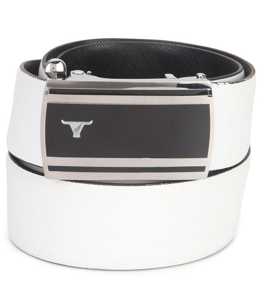 Bulchee White Formal Belt