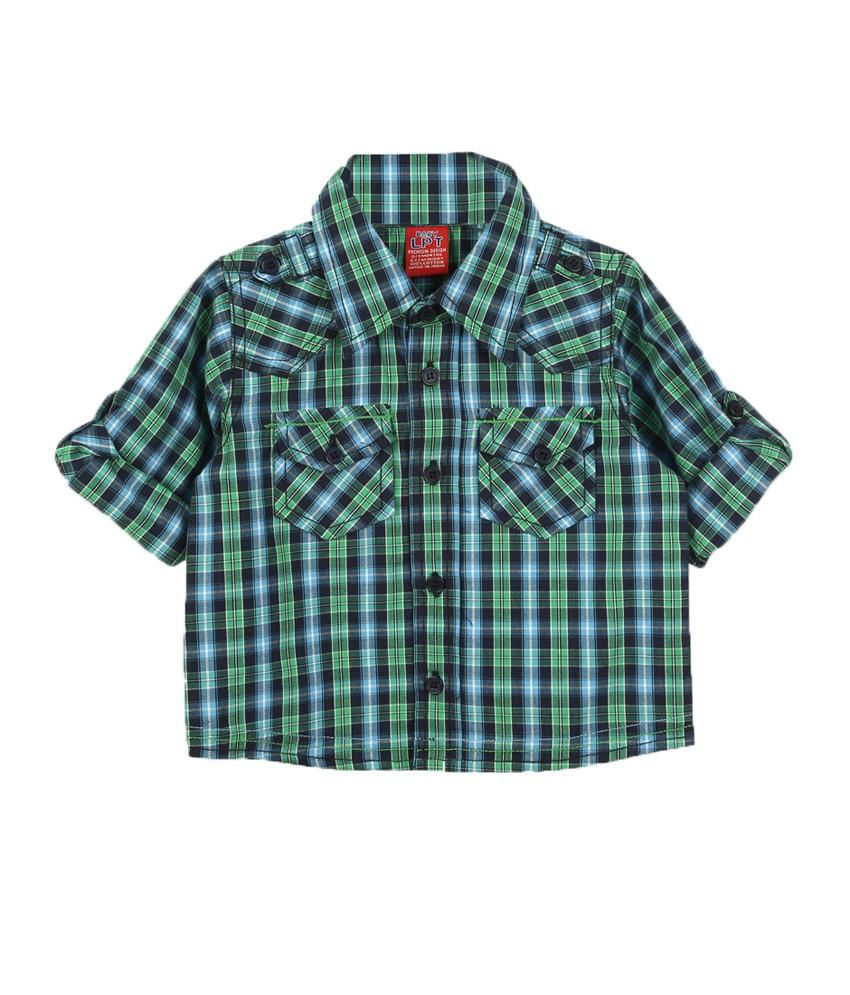 Lilliput Green Cotton Full Sleeves Baby Shirts