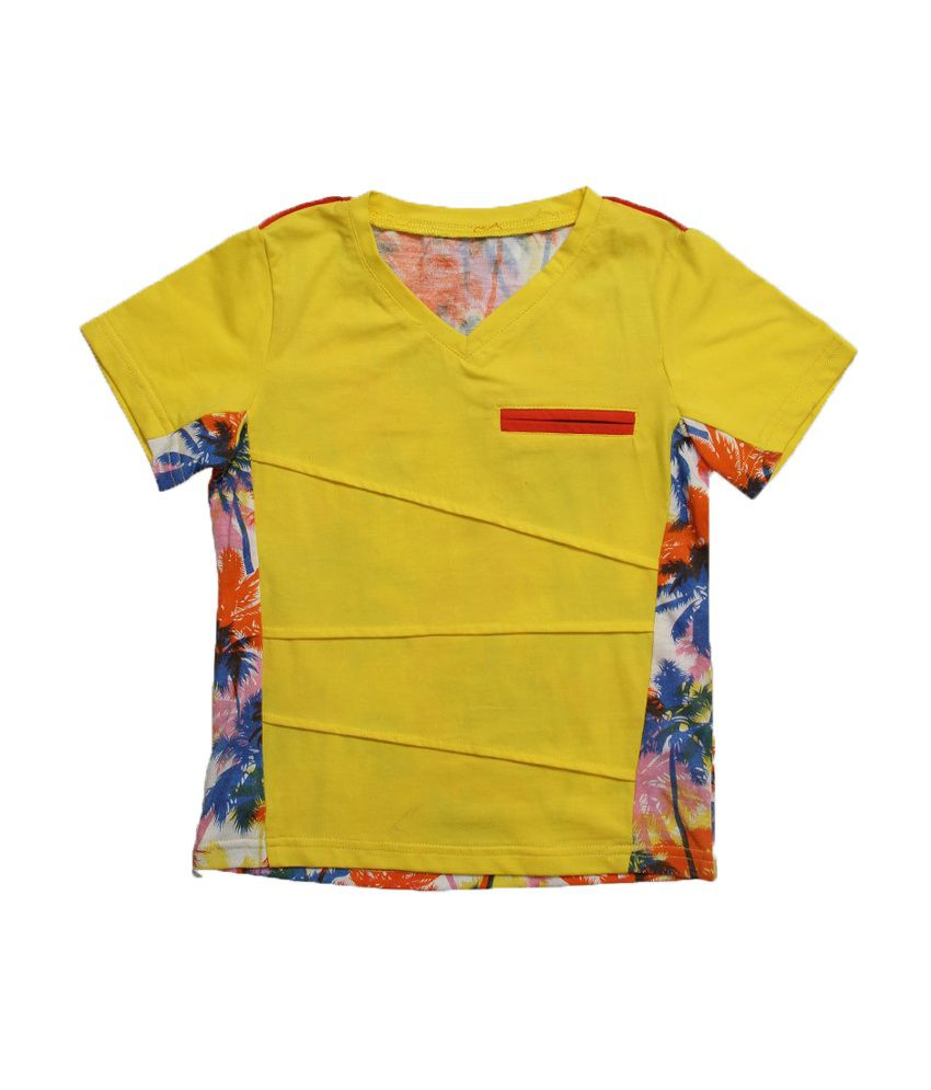 Lilliput Multicolour Cotton Half Sleeves T-shirts