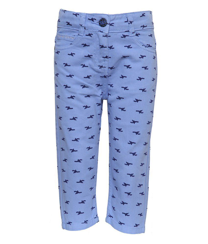 Tales & Stories Blue Denim Capris