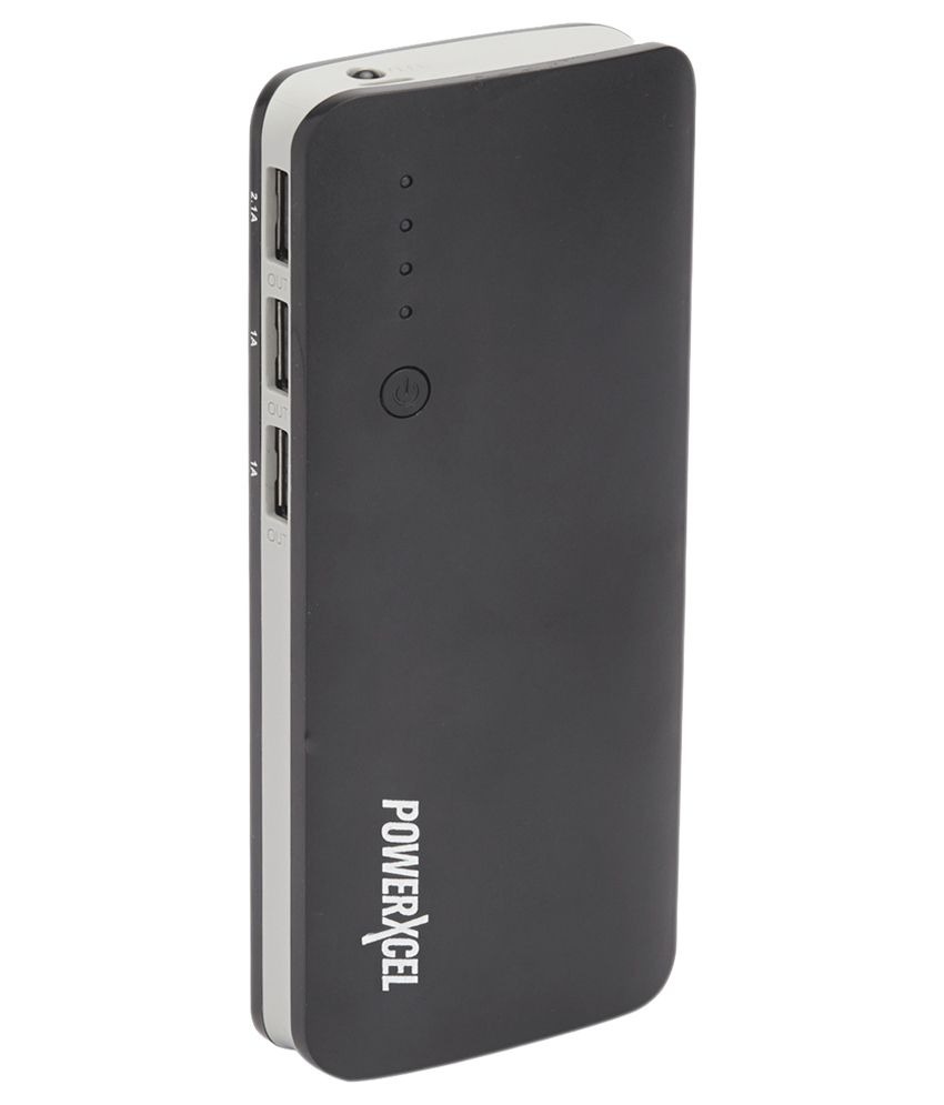 Powerxcel 13000 Mah Power Bank with 3 USB Outputs - Black - for iOS and Android Devices - Power ...