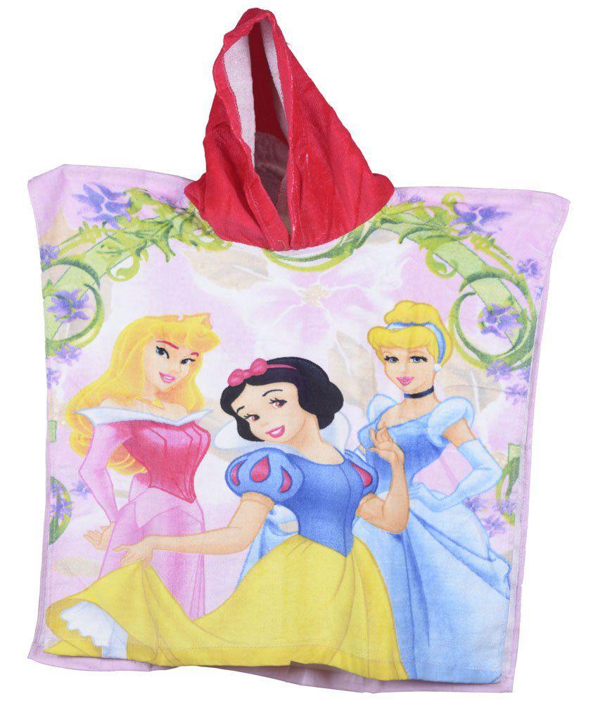 Disney Pink & Red Printed Bath Towel for Kids