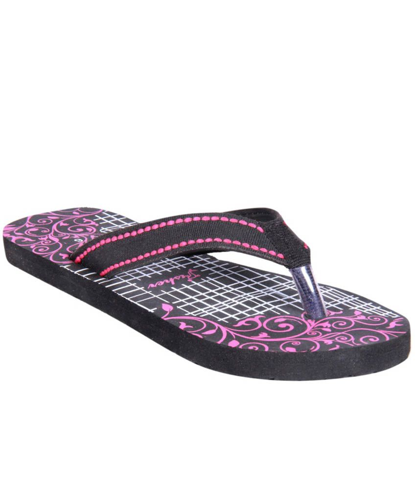 Fisher Black Flip Flops