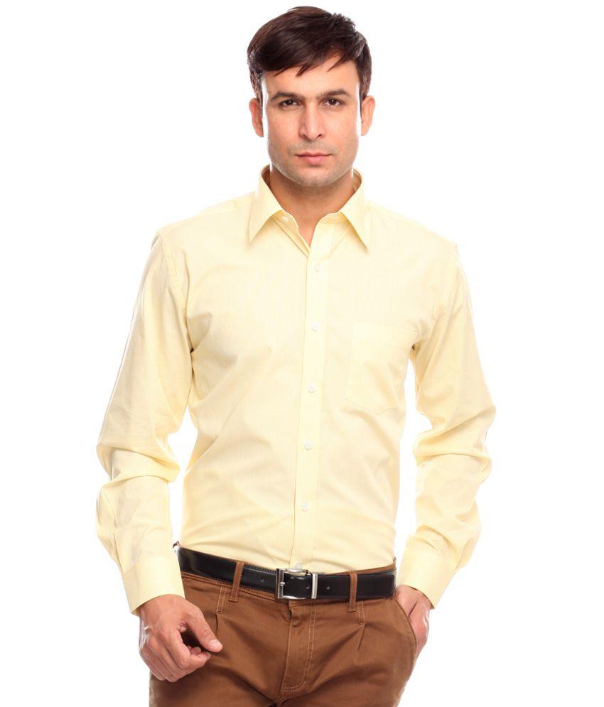 Jogur Yellow Formal Shirt