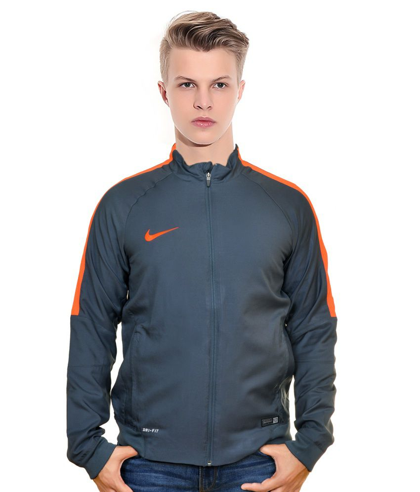 7d29fd71f6503 Nike Grey and Orange Track Jacket - Buy Nike Grey and Orange Track Jacket  Online at Low Price in India - Snapdeal
