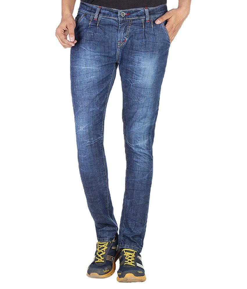 11 Stitches Garments Blue Slim Fit Jeans