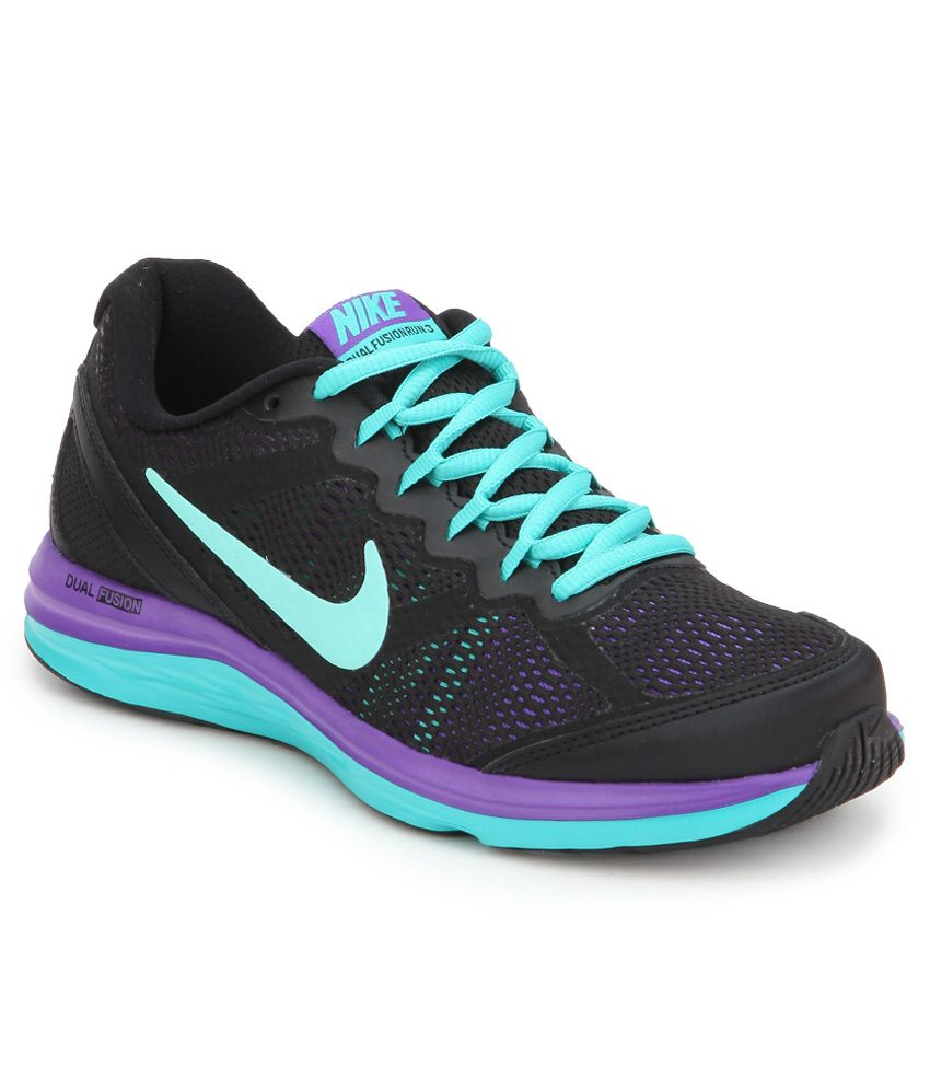7e447ce9f3e81 Nike Dual Fusion Run 3 Msl Black Sports Shoes Price in India- Buy Nike Dual  Fusion Run 3 Msl Black Sports Shoes Online at Snapdeal