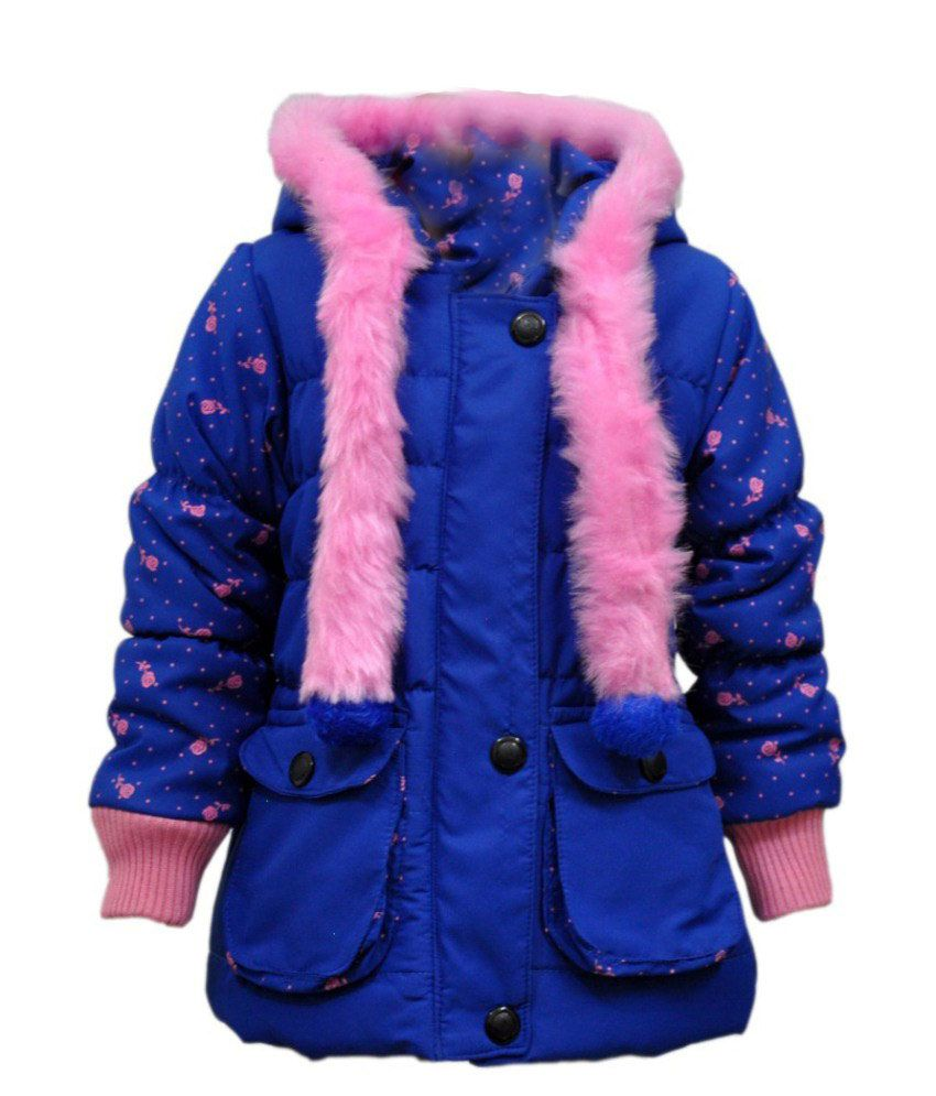 Come In Kids Blue Acrylic Full Sleeves Padded Jacket