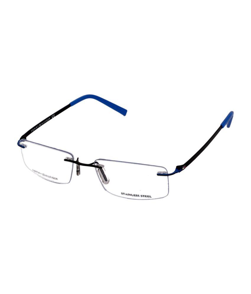 331bb88b4f Tommy Hilfiger Rimless Black   Blue Rectangle Unisex Frame Eyeglasses - Buy  Tommy Hilfiger Rimless Black   Blue Rectangle Unisex Frame Eyeglasses Online  at ...
