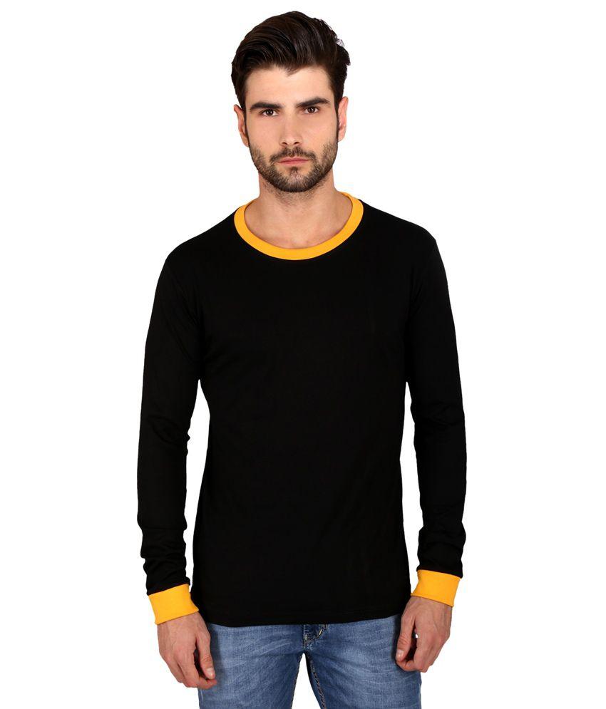 Attabouy Black Cotton T-Shirt