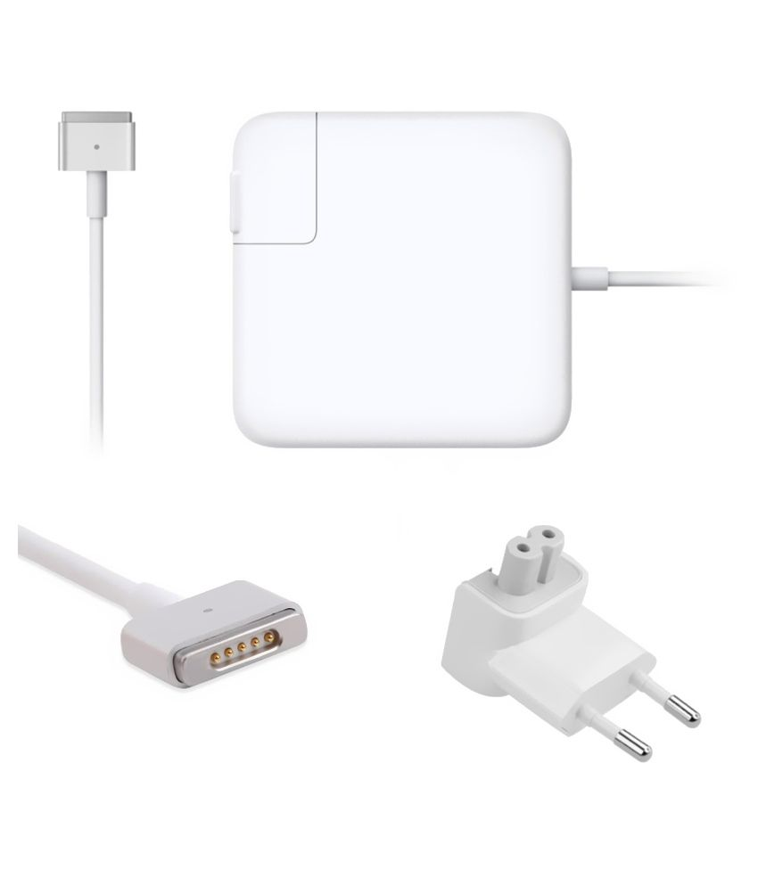 Lapsix  Magsafe-2 85w 20v-4.25a Power Adapter For Apple Macbook Ma463ll/a/a1172 - White
