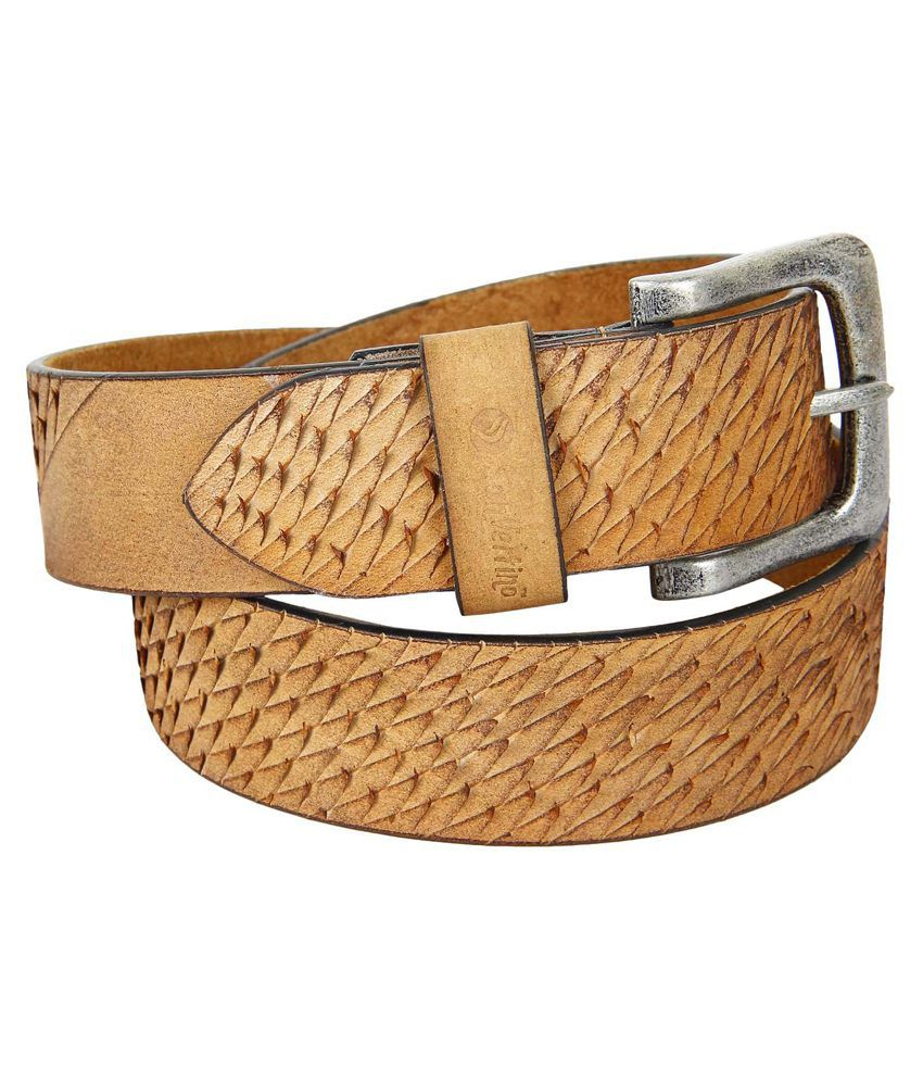 San Vertino Beige Leather Belt