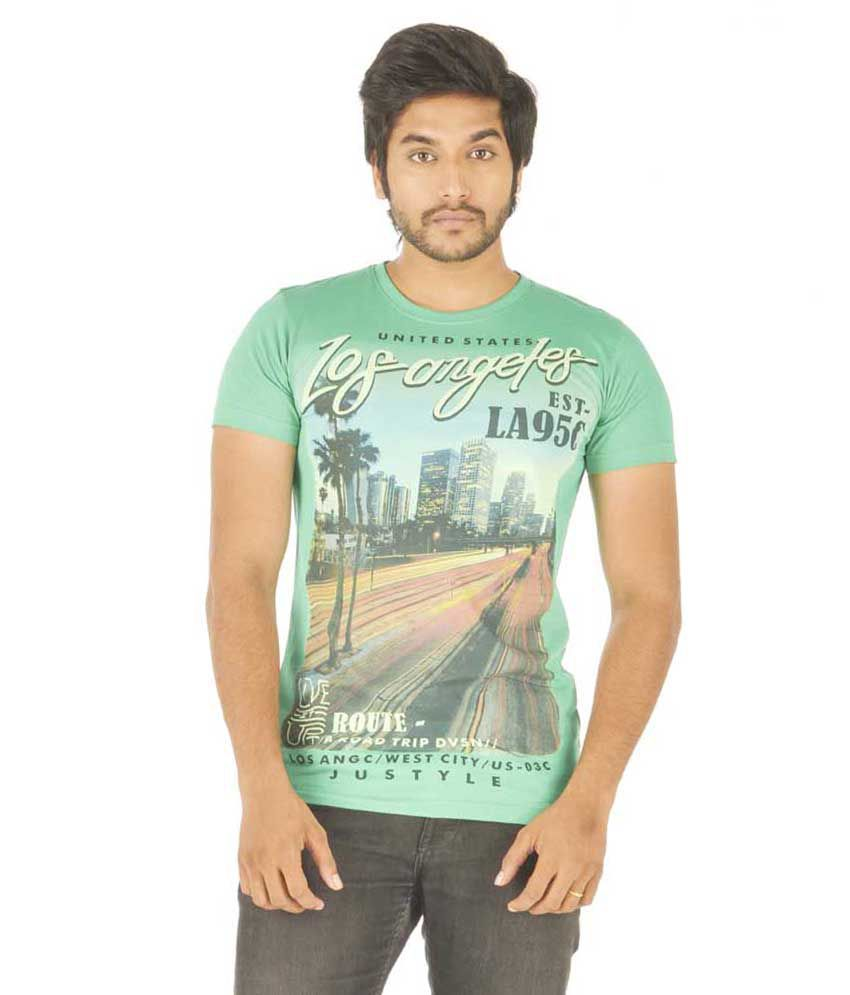 Stash Wear Green Cotton Blend T-Shirt