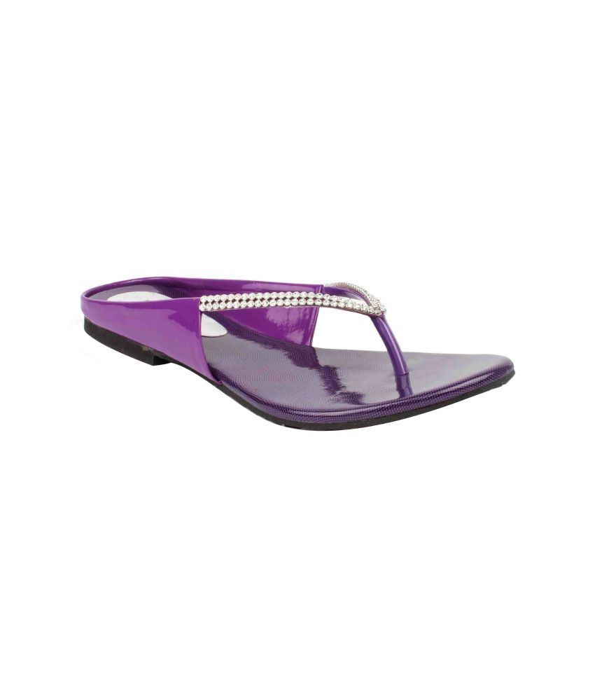 11e Purple Flat Slip-Ons