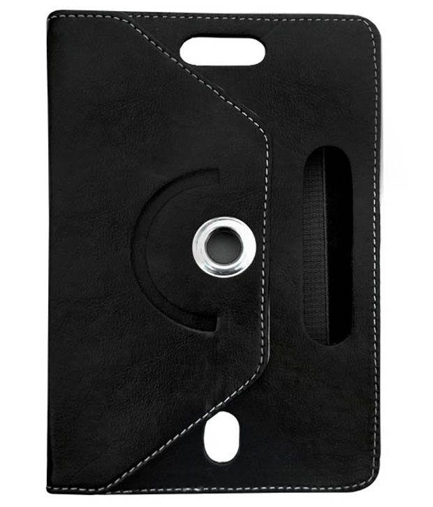Fastway Rotating Flip Cover For iBall Slide i701 Tablet -Black