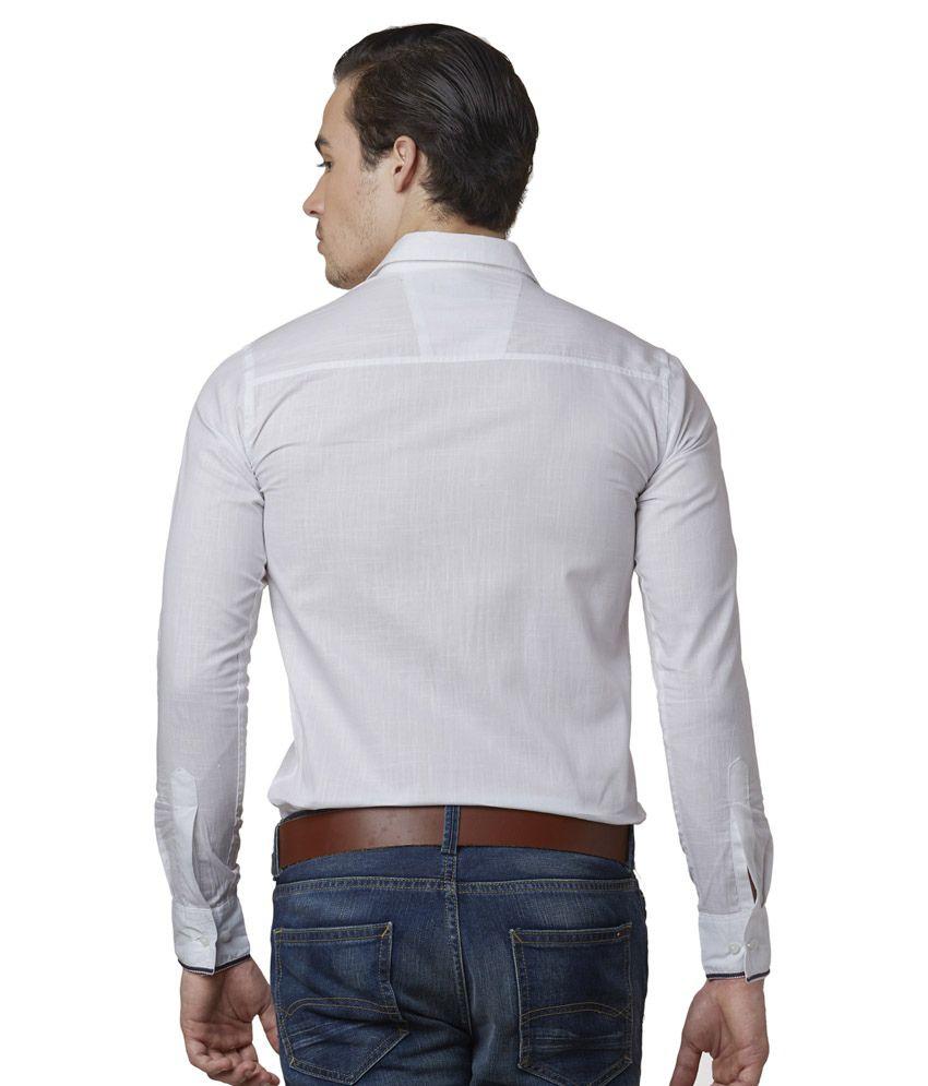 Lisova White Casual Shirt