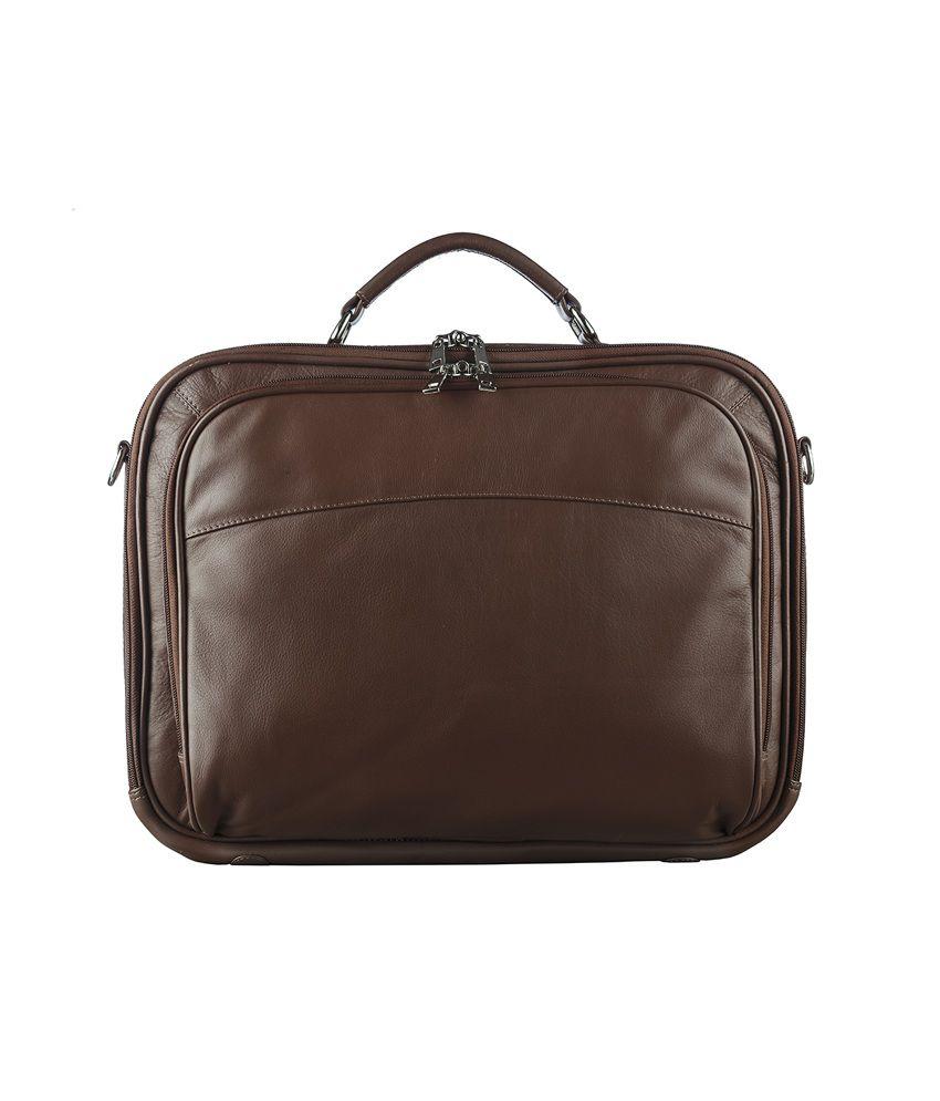 Klasse Genuine Leather Tan Laptop Bag