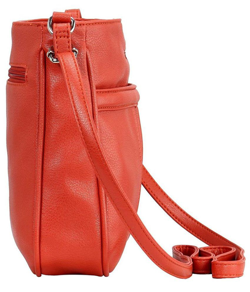 Lavie Punk Orange P.U. Medium Ladies Sling Bag - Buy Lavie Punk ...