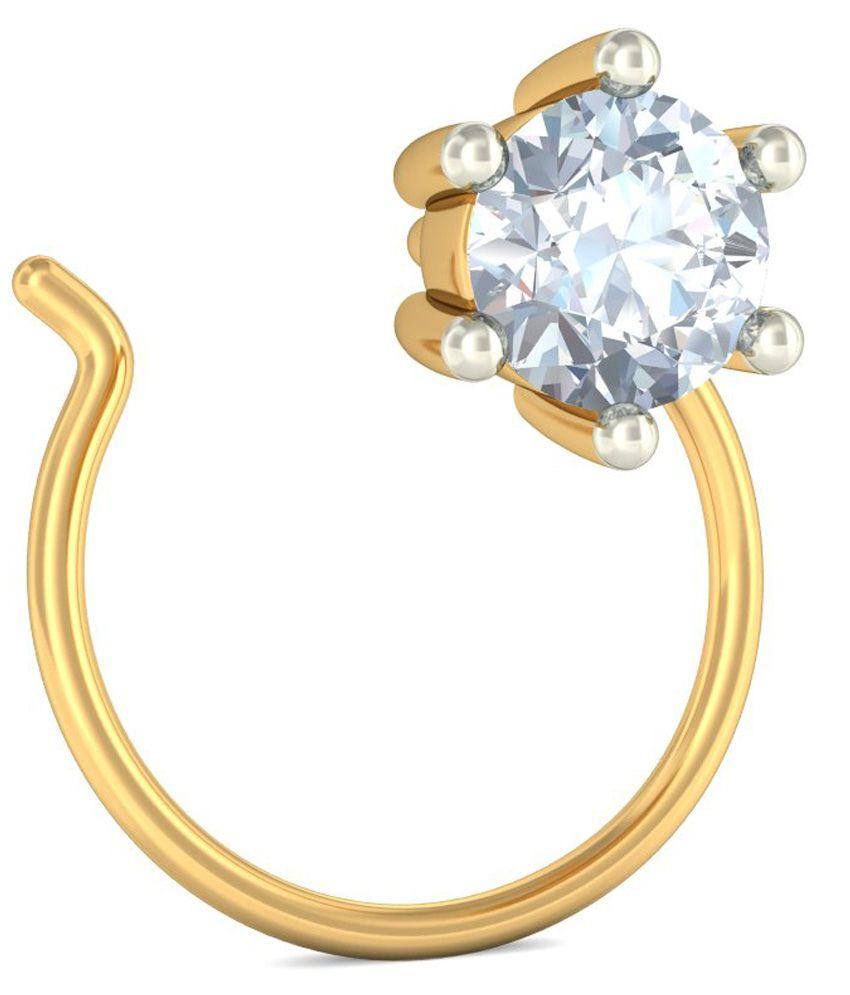 Bluestone 18kt Yellow Gold Diamond Lobelia Nose Pin Buy