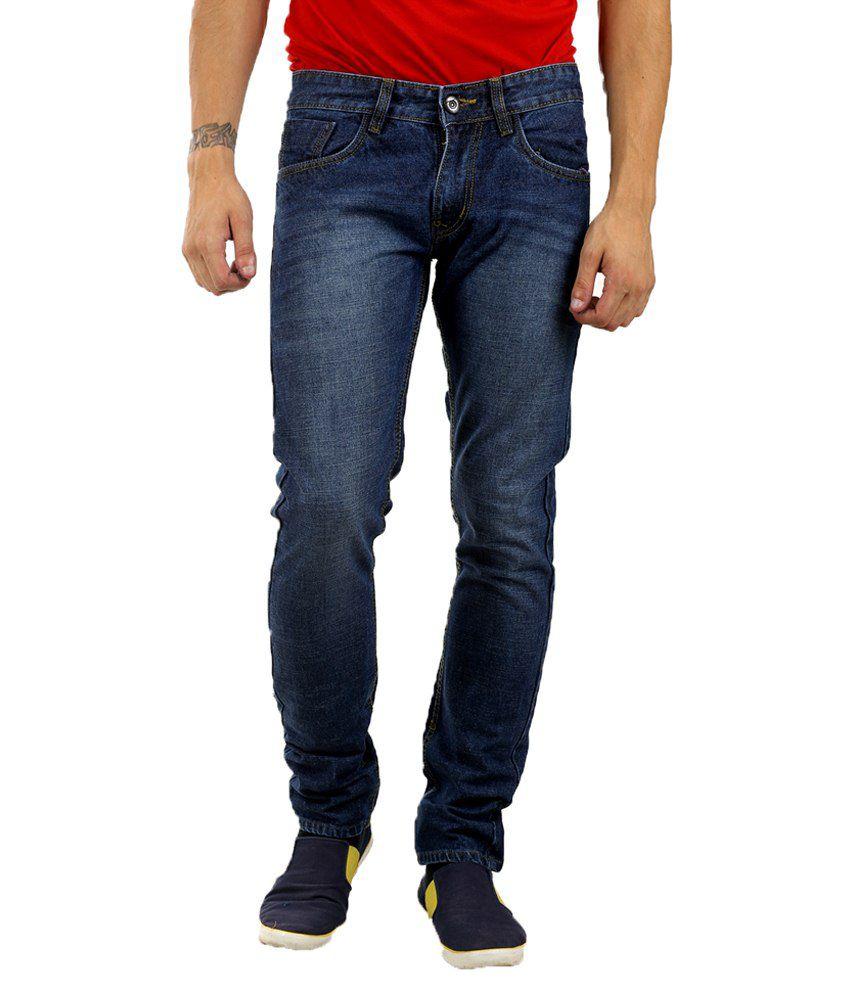 Forest Blue Regular Fit Jeans