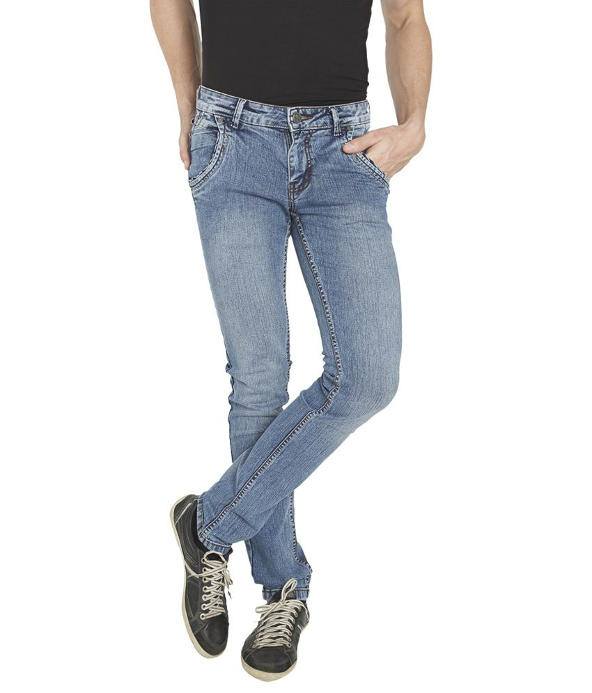 Globus Blue Cotton Blend Regular Fit Jeans