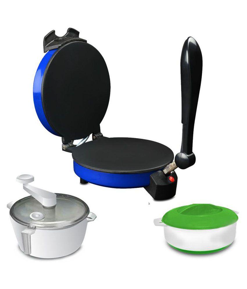 Kitchen Pro Combo of Roti Maker, Atta Maker and Casserole - Blue