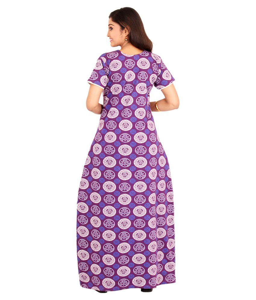 6b39d1788a Buy Pommys Pink Cotton Nighty Online at Best Prices in India - Snapdeal