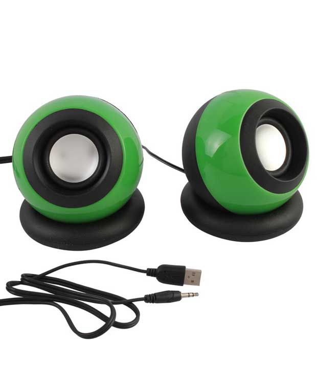 Speed-E08-Mini-Desktop-Speakers-2.0-Computer-Speakers-Green