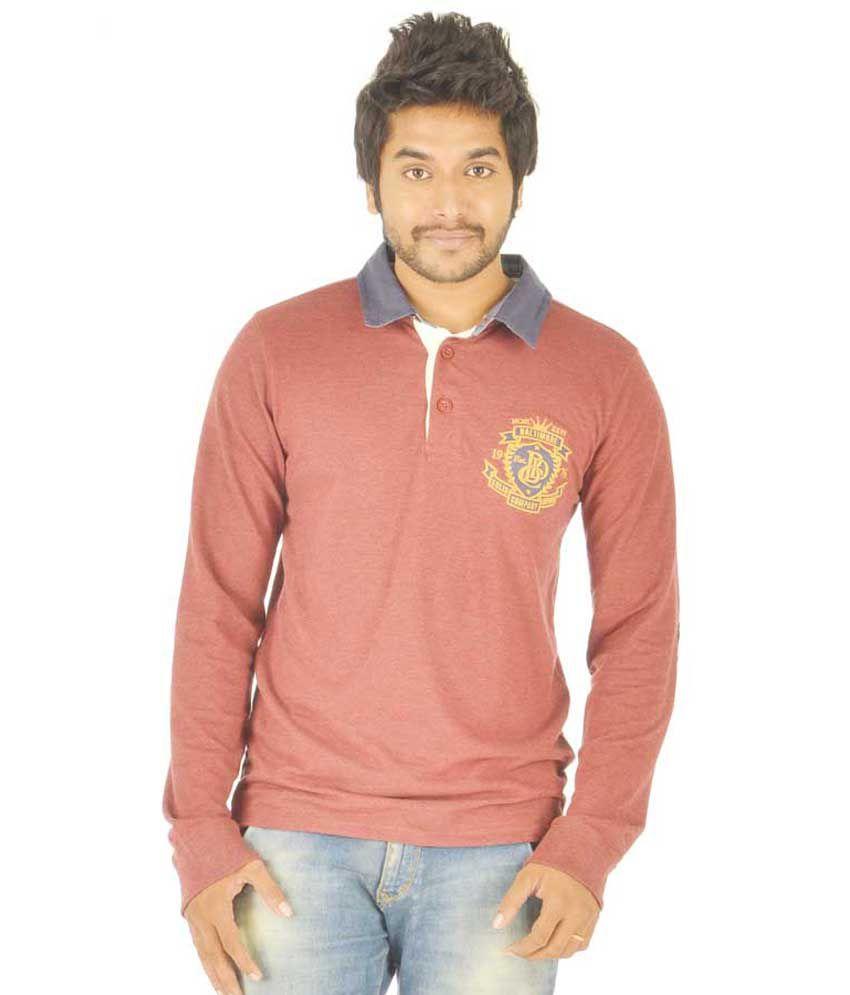 Stash Wear Red Cotton Blend T-Shirt