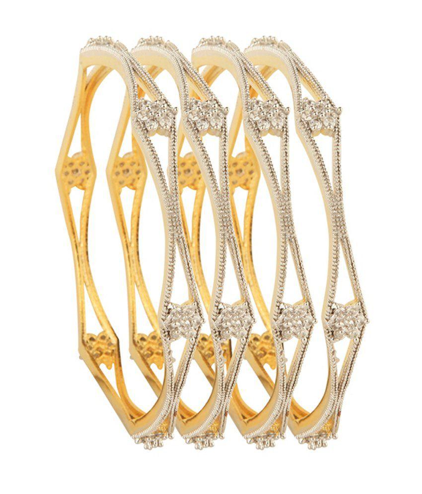 Mishti Creations Sparkling Design American Diamond Bangles
