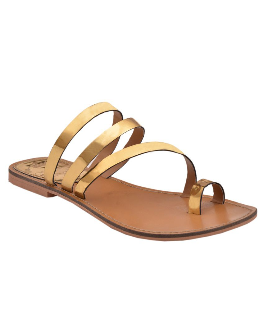 Zoe Skodon Golden Flat Slip Ons