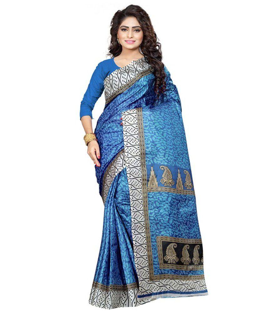 Ambaji Blue Silk Saree