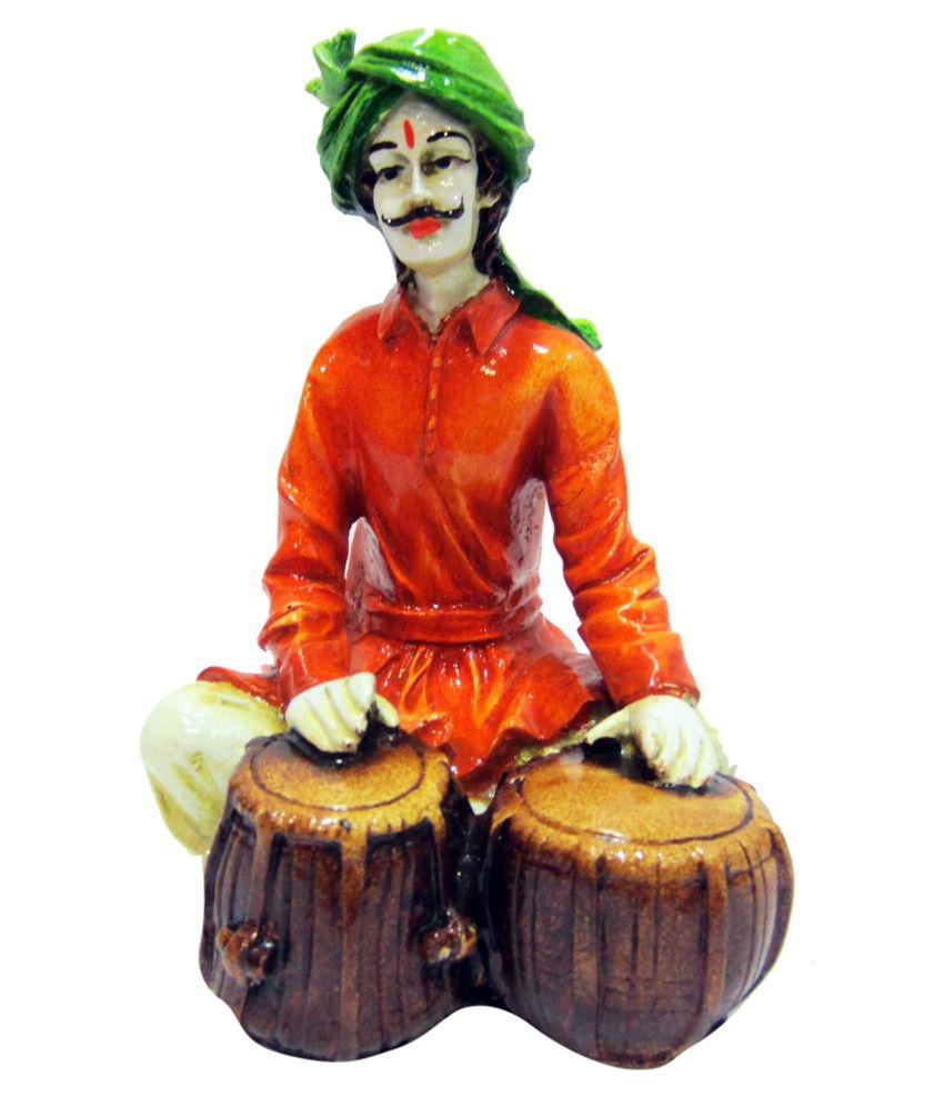 Earth Glossy Resin Rajasthani Tabla Man