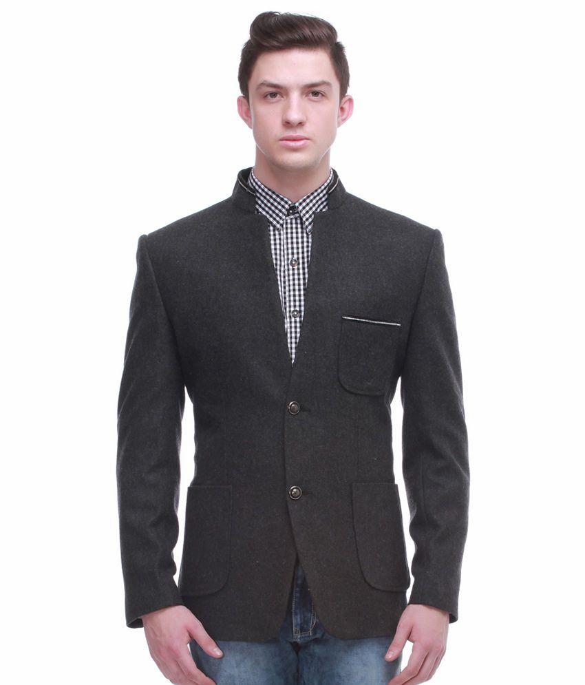 Jogur Grey Full Sleeve Casual Blazer