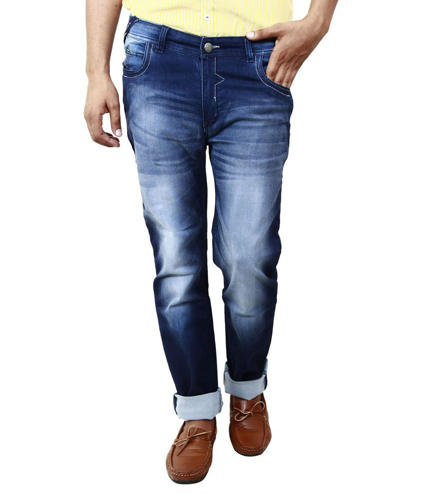 BlueTeazzers Blue Cotton Blend Slim Fit Jeans