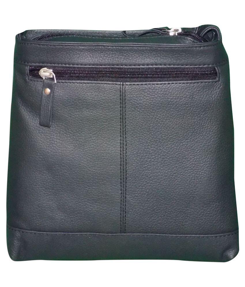 Style 98 Black Genuine Leather Sling Bag for Women