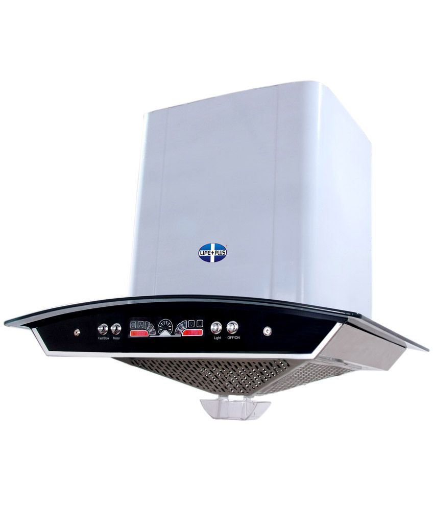 Life Plus 90cm 1100 M3 Hr Kitchen Hood Chimney White