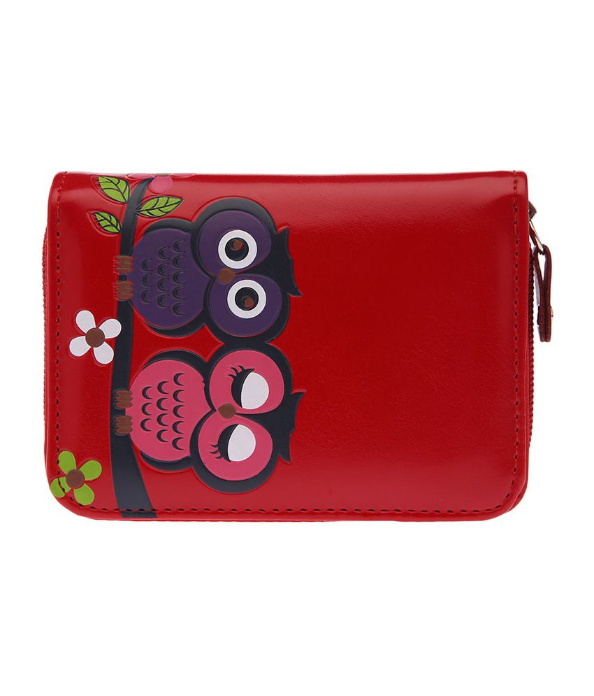 Life by Shoppers Stop Red Owl Printed Women's Wallet