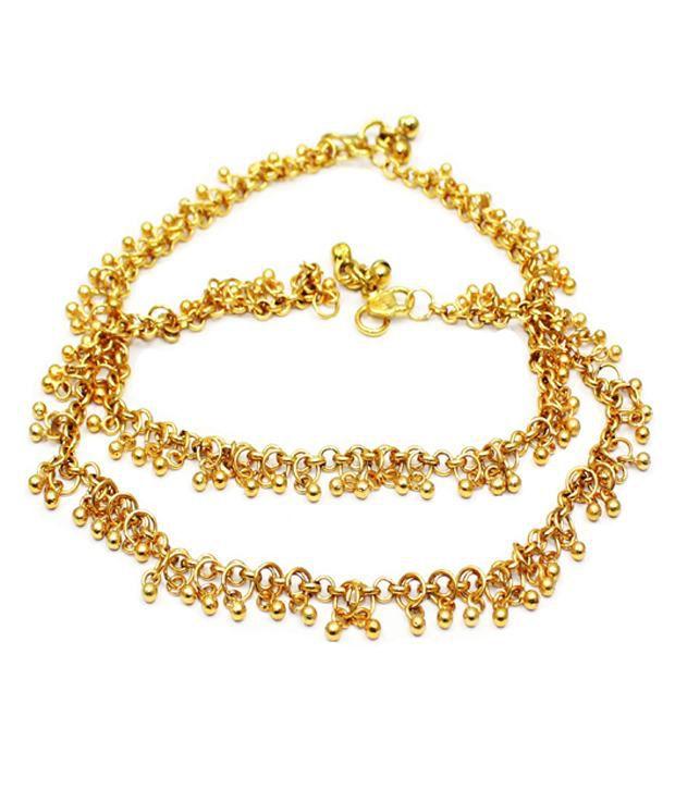 Satyam Jewellery Nx Designer Anklet Set Of 2