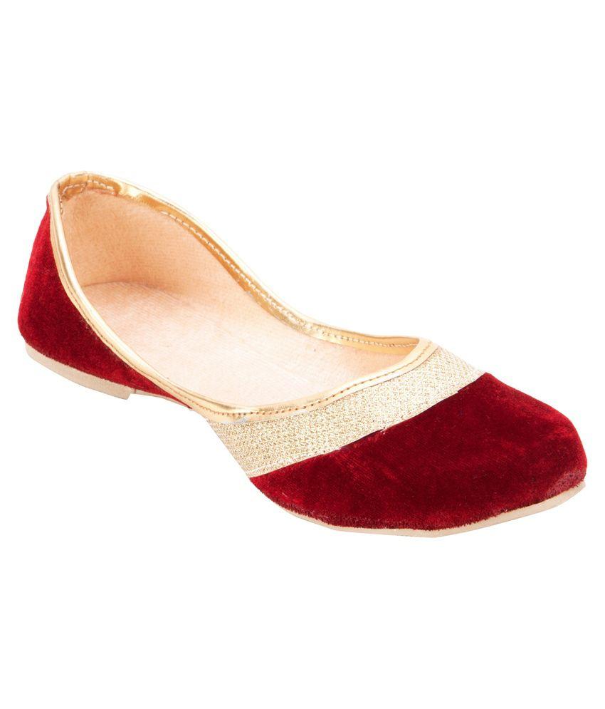 Footrendz Maroon Ballerinas