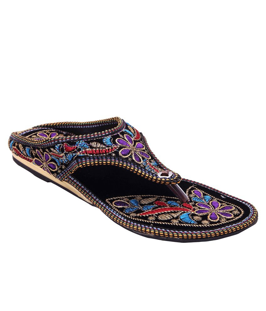 E-Handicrafts Multicolour Flat Slip-Ons