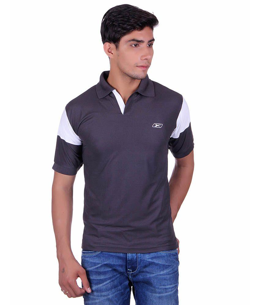 EX10 Black Polyester Sports T-shirt