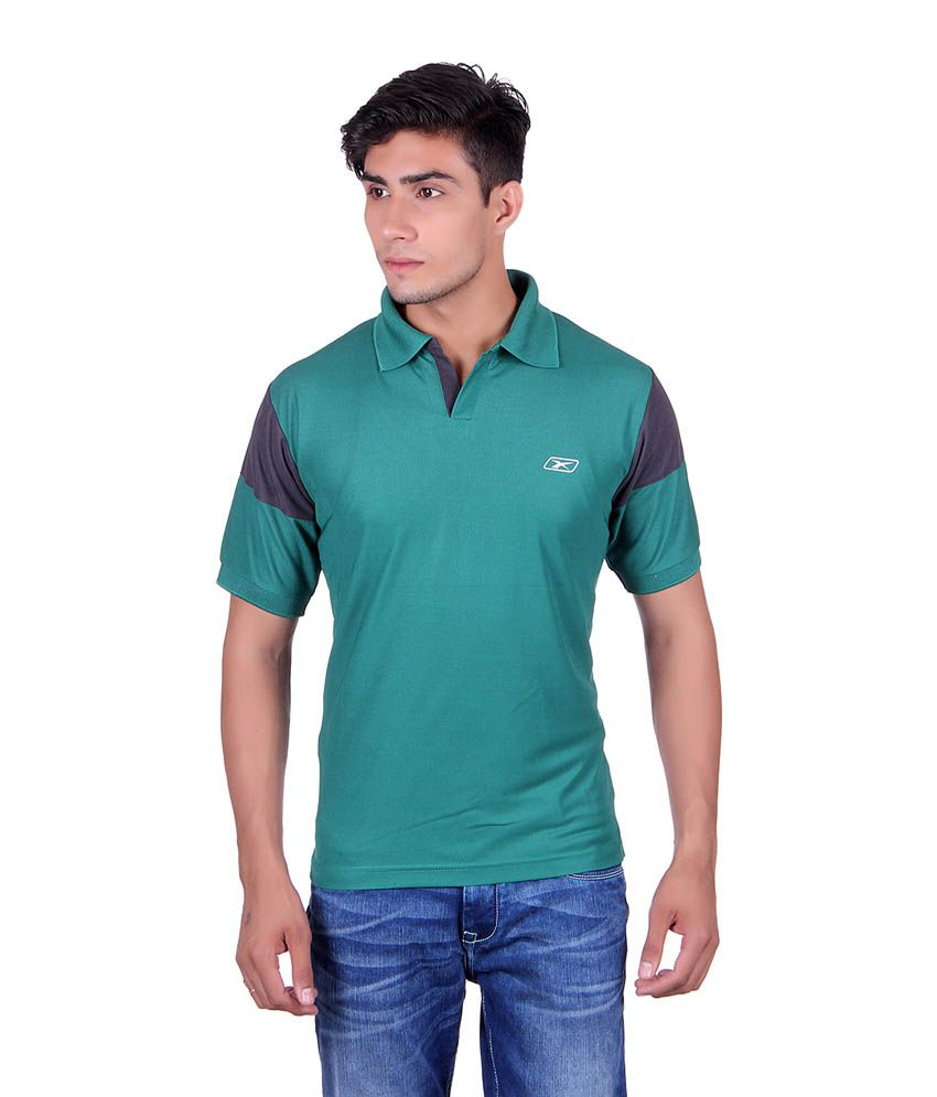 EX10 Green Polyester Sports T-shirt